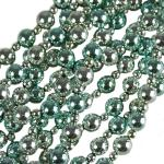 202-26674-TS £4.75 Turquoise & Silver Bead Garland - 2.4m...  Click to view