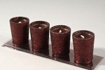 203-01165-BR £2.4 Cocoa Glitter wax candles  - 4 Pack...  Click to view