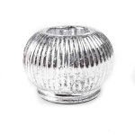 203-08759-WH £2.25 White Rippled Glass Ball Tealight Holder...  Click to view