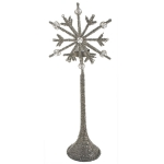 203-13678-TS £8 Bead & Crystal Snowflake Tealight Holder - 20cm X ...  Click to view