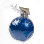 203-15608-BL £5 Non Drip Blue Bauble Candle - 9cm...  Click to view