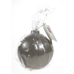 203-15608-SL £5 Non Drip Silver Bauble Candle - 9cm...  Click to view