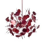 204-10298-RD £5 Firework Hanging Decoration With Red Sequin Detail...  Click to view