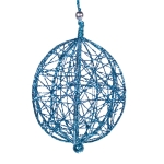 204-10323-BL £5.5 Decorative Turquoise  Wire Mesh Hanging Ball - 13c...  Click to view