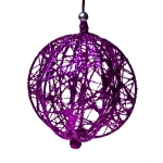 204-10323-PK £5.5 Decorative Pink Wire Mesh Hanging Ball - 13cm...  Click to view