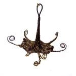 204-10335-BG £3.75 Brown And Gold Hanging Trumpet Flower Decoration -...  Click to view
