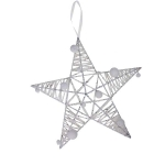 204-21335-WH-30 £6 White Sparkle Star Decoration - 30cm...  Click to view