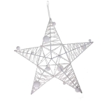 204-21335-WH-40 £7.5 White Sparkle Star Decoration - 40cm...  Click to view