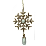 204-21908-GR £4.6 Ornate Iridescent Pale Green Snowflake Decoration ...  Click to view