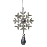 204-21908-PU £4.6 Ornate Iridescent Purple Snowflake Decoration with...  Click to view