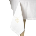 210-16571-CR-TBC £20 Peggy Wilkins Cream & Gold Filigree Tablecloth - 1...  Click to view