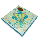 211-02644-TP £2.5 Disposable Teal Paisley Paper Napkins...  Click to view