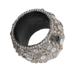 212-14202-CR £3.25 Sparkling Chunky Silver Napkin Ring With Circular ...  Click to view