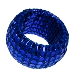 212-22016-BL £1.75 Blue Textile & Sequin Napkin Ring...  Click to view