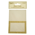 215-02718-GD £3.25 Gold Moire Place Cards - 10 Pack...  Click to view