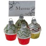 215-14246-RGW £6.75 Red, Green And White Glass Cupcake Placecard Holde...  Click to view