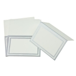 215-20590-SL £3.25 Pack Of 8 Silver Striped Border Placecards...  Click to view
