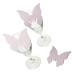 215-23779-BP £2.5 Baby Pink Butterfly Place Cards - 10 Pack...  Click to view