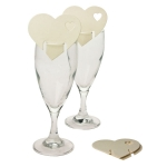 215-23803-IV £3 Ivory Heart Place Cards - 10 Pack...  Click to view