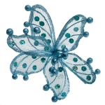 220-13449-BL £8.5 Blue Sheer Flower Clip - 20cm...  Click to view