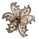 220-13449-BR £8.5 Brown & Platinum Sheer Flower Clip - 20cm...  Click to view