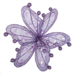 220-13449-PU £8.5 Lilac Sheer Flower Clip - 20cm...  Click to view