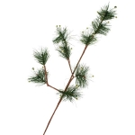 220-21404 £4.25 Green Pine Foliage Spray With Gold Berries...  Click to view