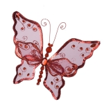 222-15249-20 £3.25 Red Butterfly On Clip - 20cm...  Click to view