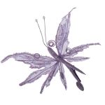 222-17903-PU £5 Lilac Fabric & Glitter Two Tone Butterfly On Clip ...  Click to view