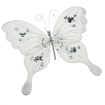 222-23164-SL-LG £5.5 Decorative Silver Net Butterfly on a Clip - 34cm x...  Click to view