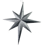 800-18394-SL-60 £22 8 Point Silver Glitter Star - 60cm...  Click to view