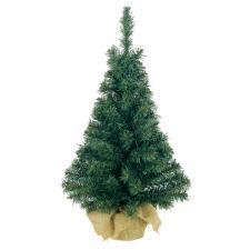 Artificial Green Tree In Jute Bag - 75cm (2.5ft)