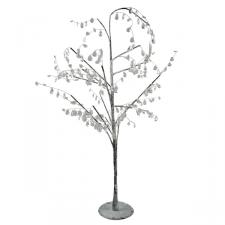 Acrylic Tree With Clear Beads - 90cm