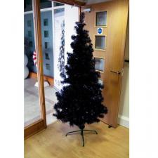 180cm (6ft) Black Shiny Artificial Tree