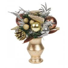 Precious Metal Christmas Room Decoration Collection - Small Centrepiece
