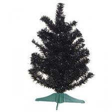 Black Artificial Table Top Christmas Tree