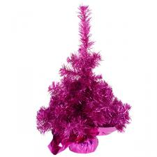 Tabletop Tinsel Tree -45cm Fuchsia