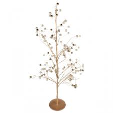 Cream And Gold Bead Tree - 70cm