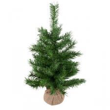 Green Burlap Table Top Tree - 60cm