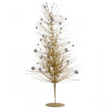 Gold & Silver Sparkle Burst Display Tree - 100cm