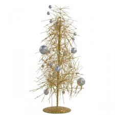 Gold & Silver Sparkle Burst Miniature Table Top Tree - 38cm