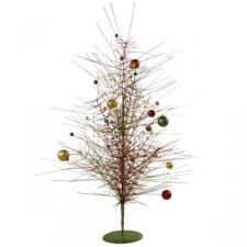 Red, Green & Gold Sparkle Burst Table Top Tree - 60cm