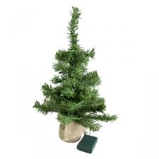 Prelit Battery Operated Tree In Jute Bag - 45cm