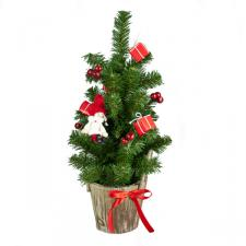 Decorated 45cm Table Top Tree In Pot With Child & Parcels