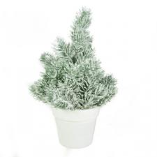 Green Frosted Artificial Tree - 25cm