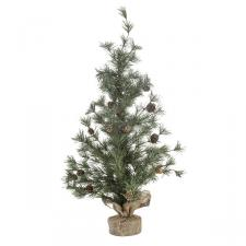 Frosted Table Top Tree With Pinecones - 75cm