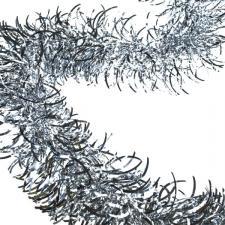 Silver Wavy Tinsel Garland - 2.7m x 100mm