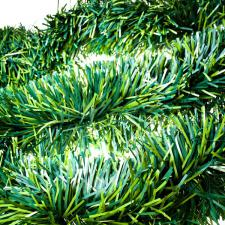 Satin Green Tinsel Garland - 3m X 150mm