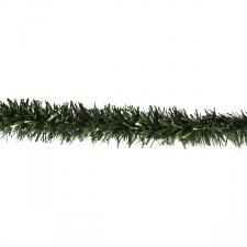 Chunky Cut Matt Green Display Tinsel Garland  - 10m x 100mm