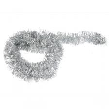 Silver Shiny Tinsel Garland - 75mm X 2.7m